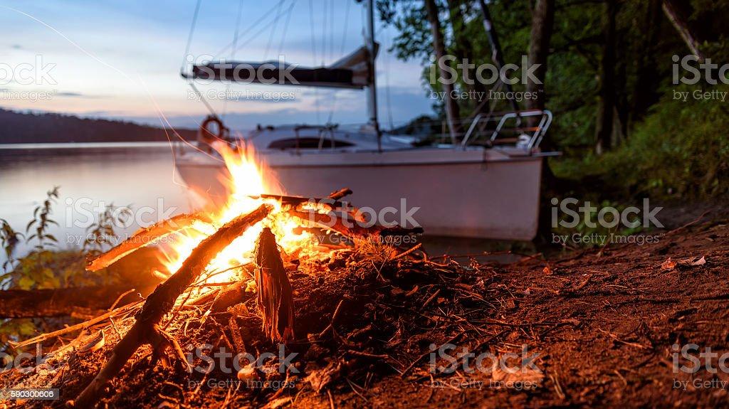 Masurian lakes stock photo