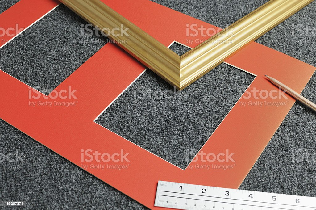 Mat board and picture frame royalty-free stock photo