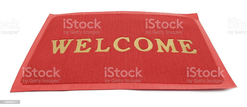 Mat doormat with welcome sign royalty-free stock photo
