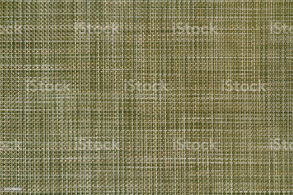 Mat texture. Green basket weave pattern. stock photo