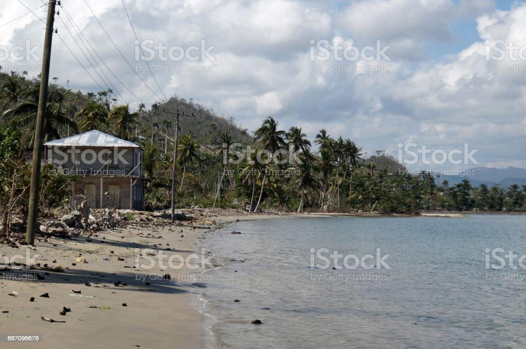 Mata Bay view, Cuba stock photo