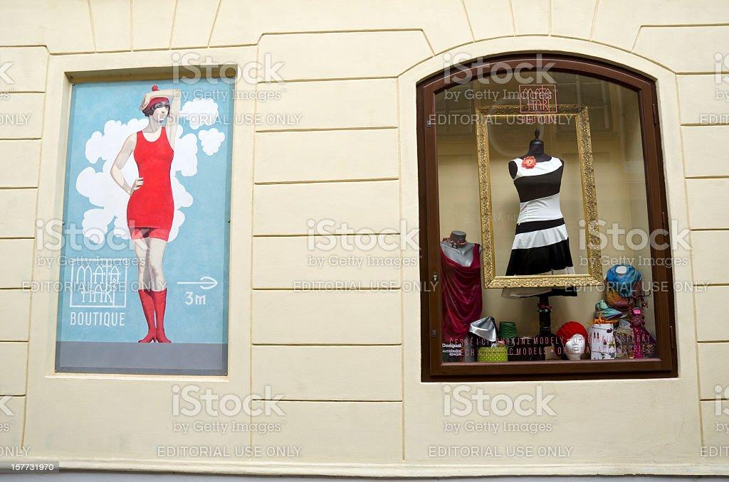 Mata Hari Boutique in Česky Krumlov Europe stock photo