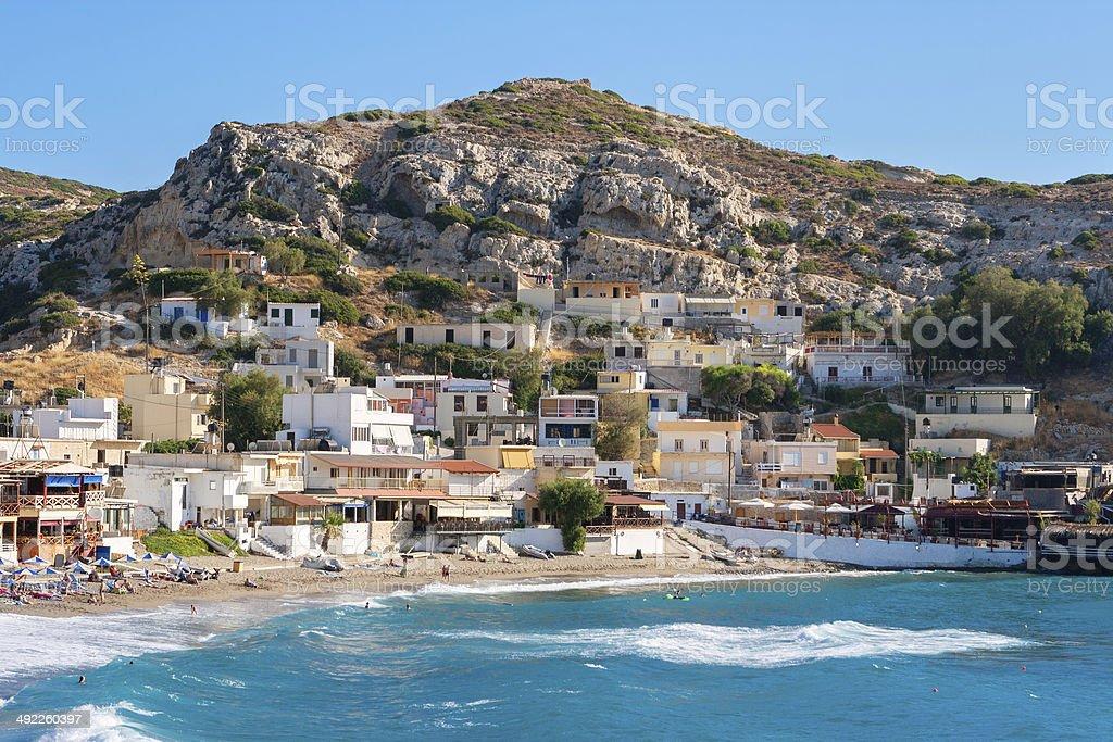Matala. Crete, Greece stock photo