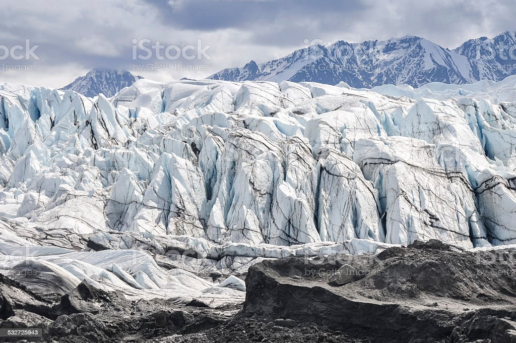 Matanuska Glacier in Alaska (USA) stock photo