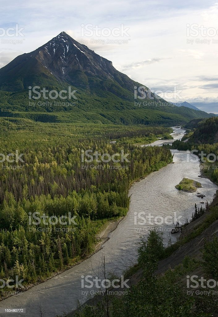 Matanuska river, Alaska stock photo