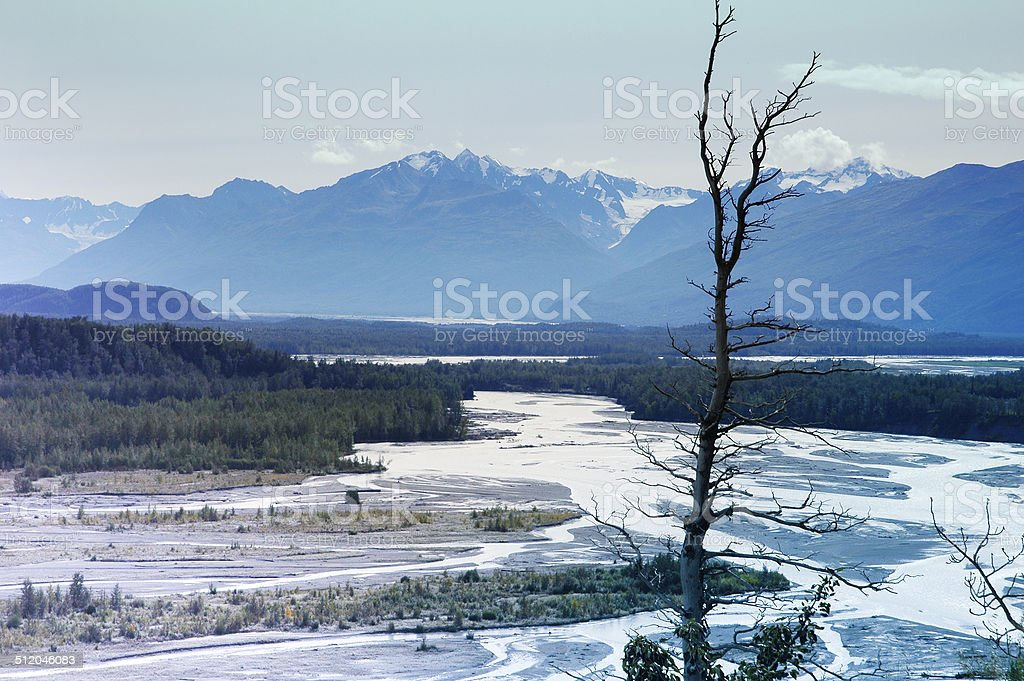 Matanuska river,Alaska stock photo