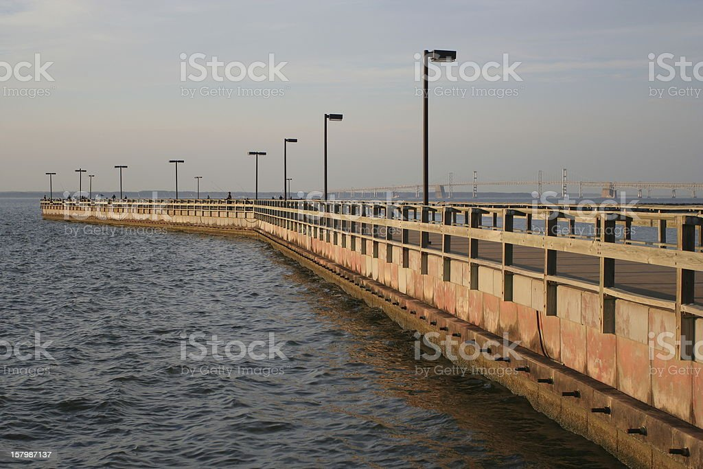 Matapeake Fishing Pier stock photo