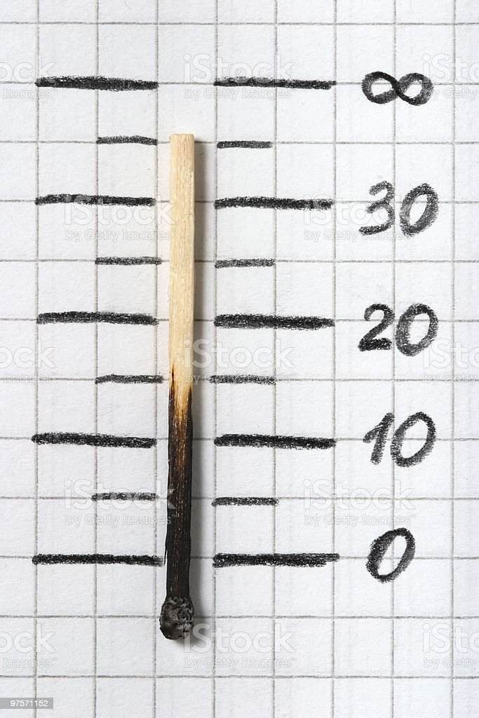 match as thermometer royalty-free stock photo