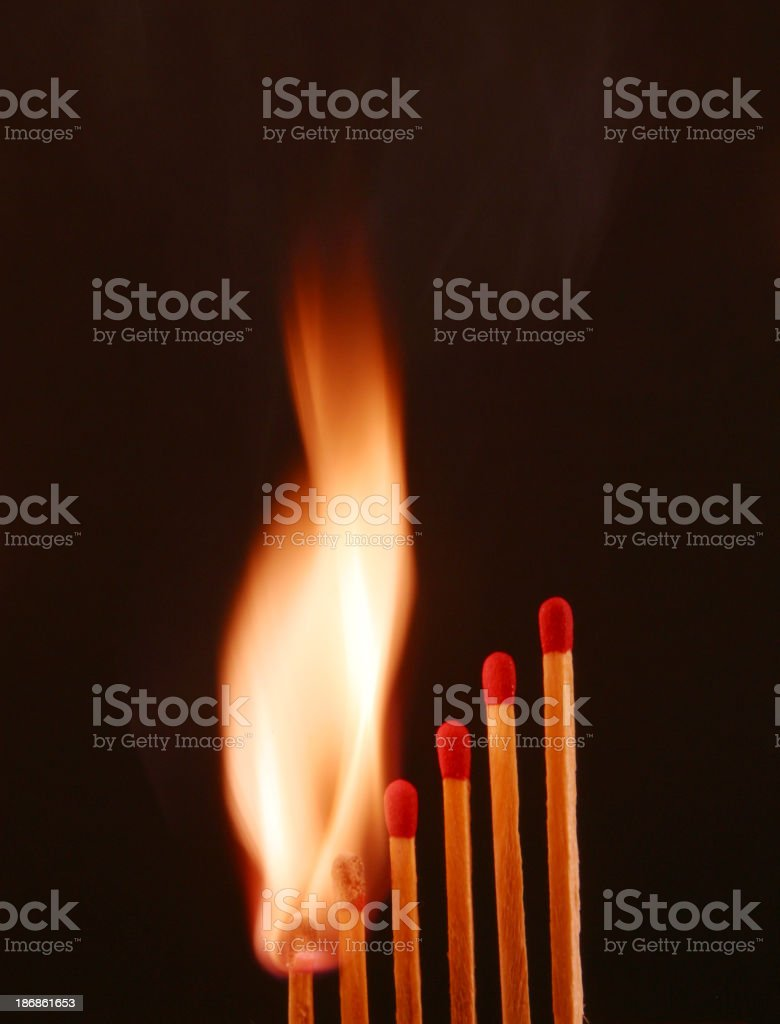 Match, Burning Emotions, Fire, Passion, Desire,Envy, Love royalty-free stock photo