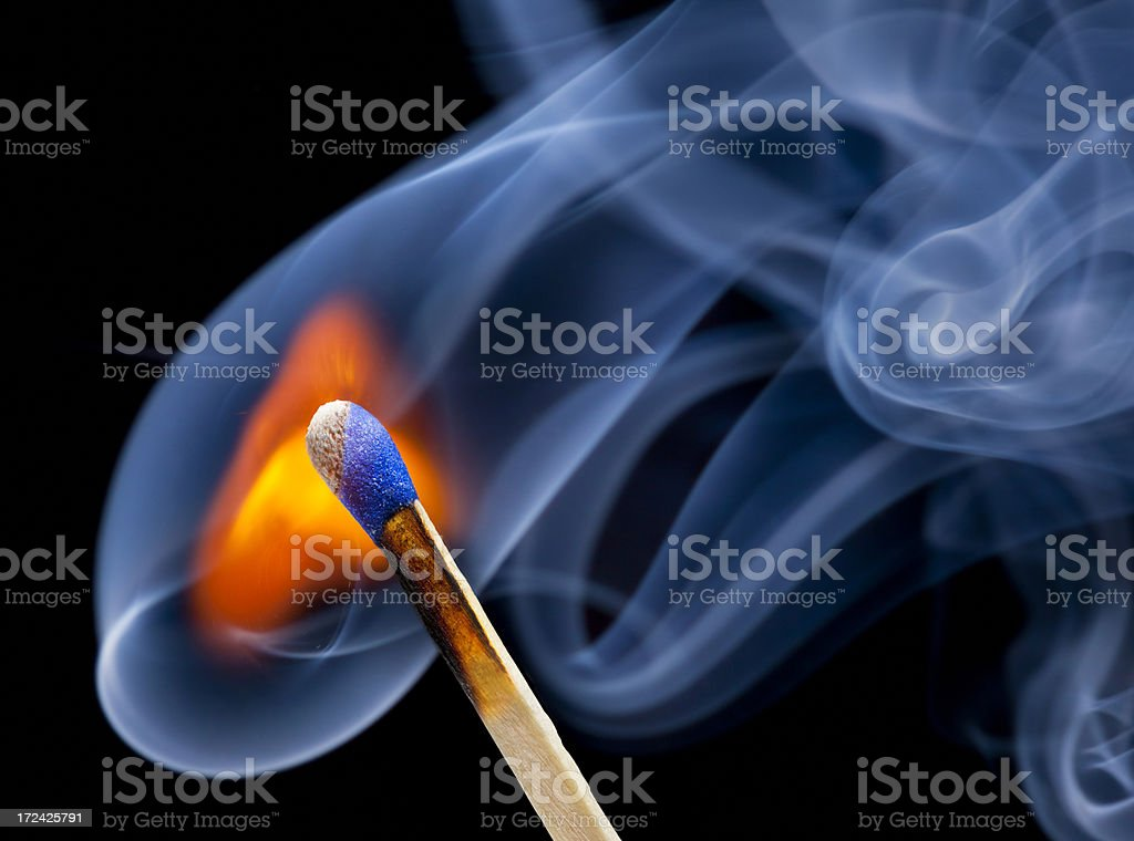 Match Bursting Into Flames royalty-free stock photo