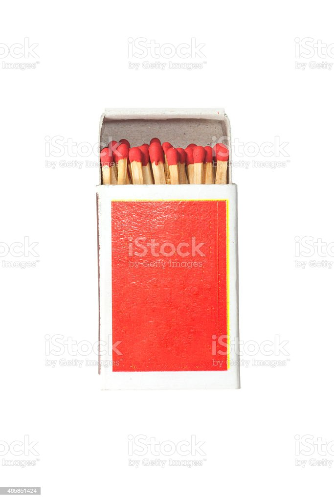 Match in the box. stock photo