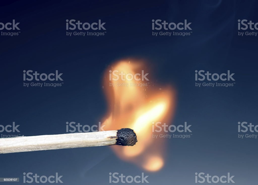 match just ignited stock photo
