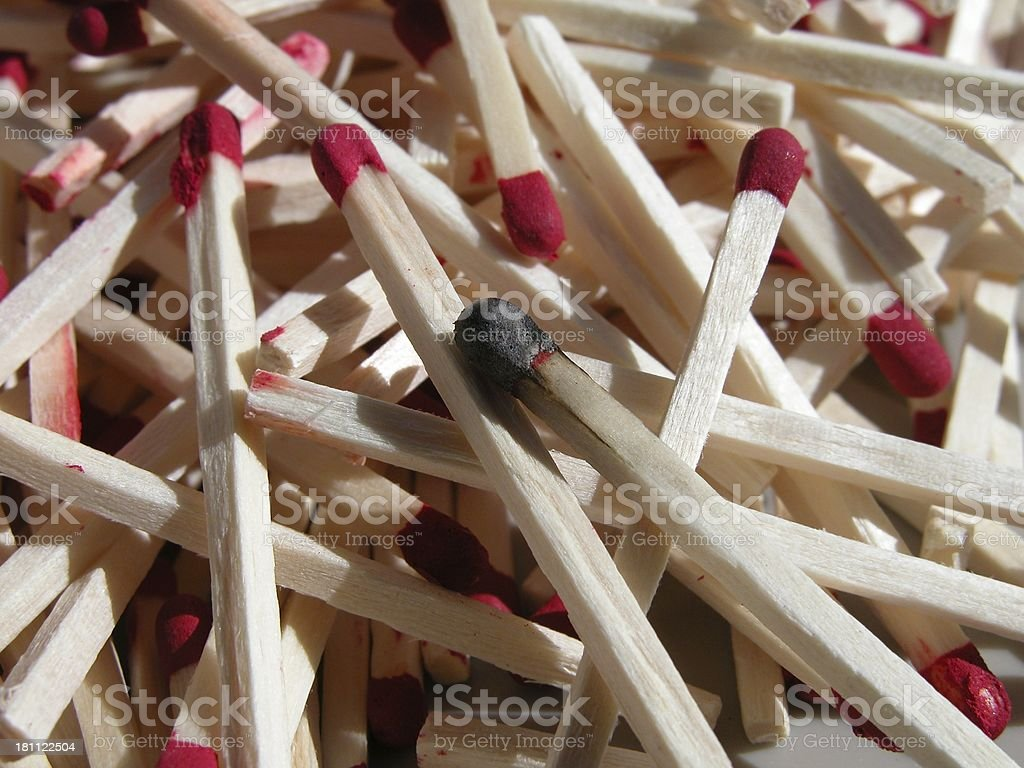 Match pile royalty-free stock photo