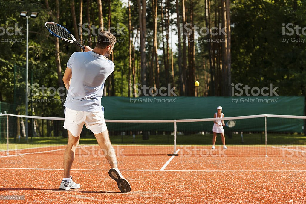 Match point. stock photo