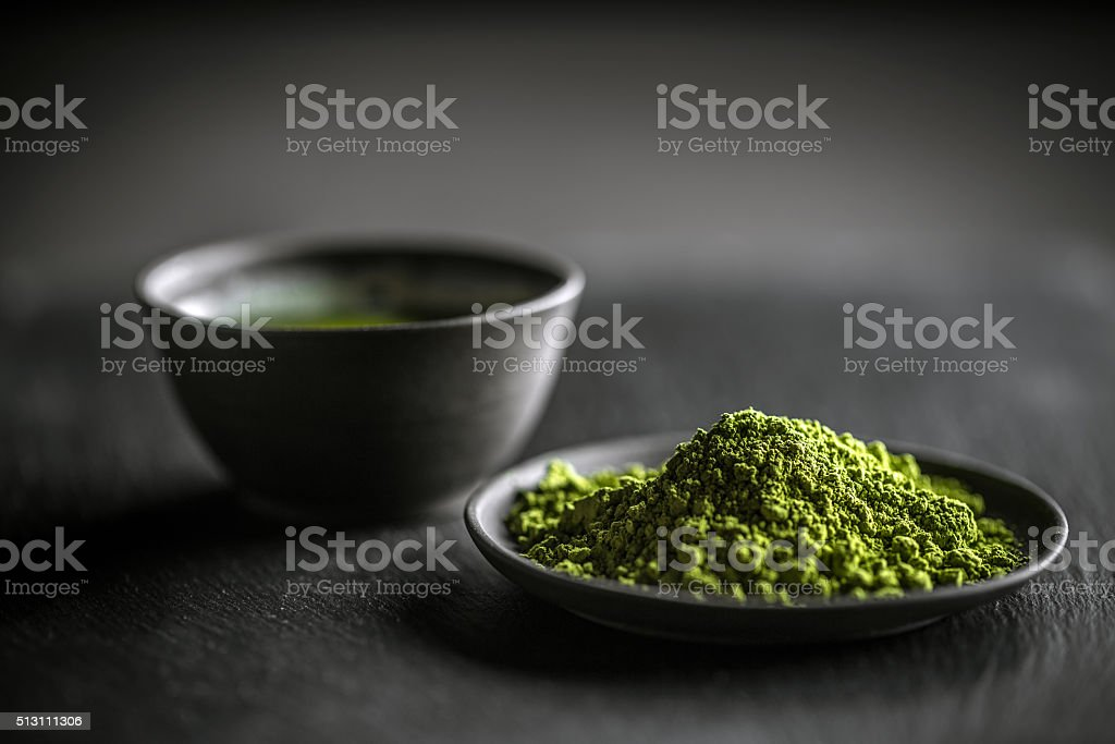 Matcha green tea stock photo