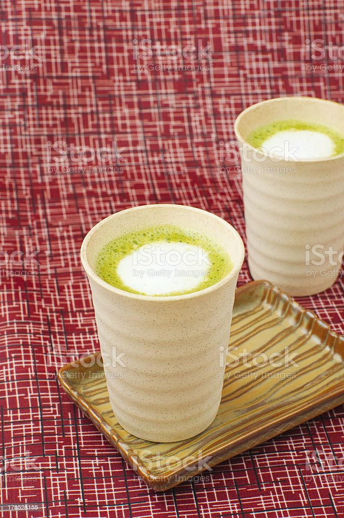 matcha latte royalty-free stock photo