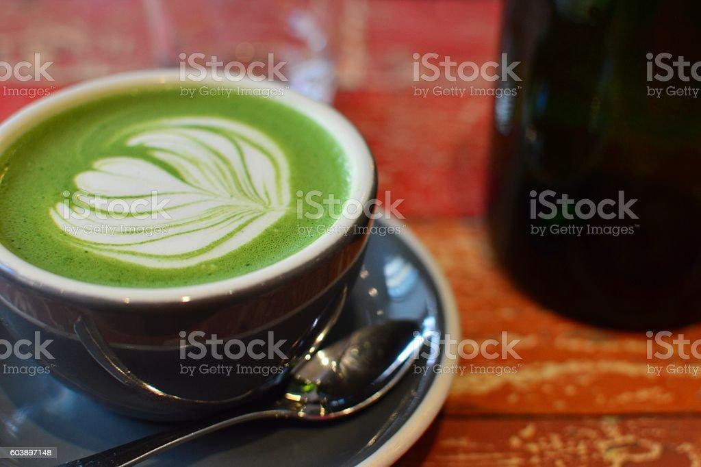 Matcha latte stock photo