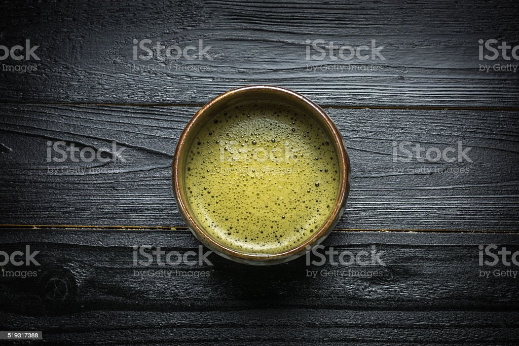 Matcha or Japanese green tea royalty-free stock photo
