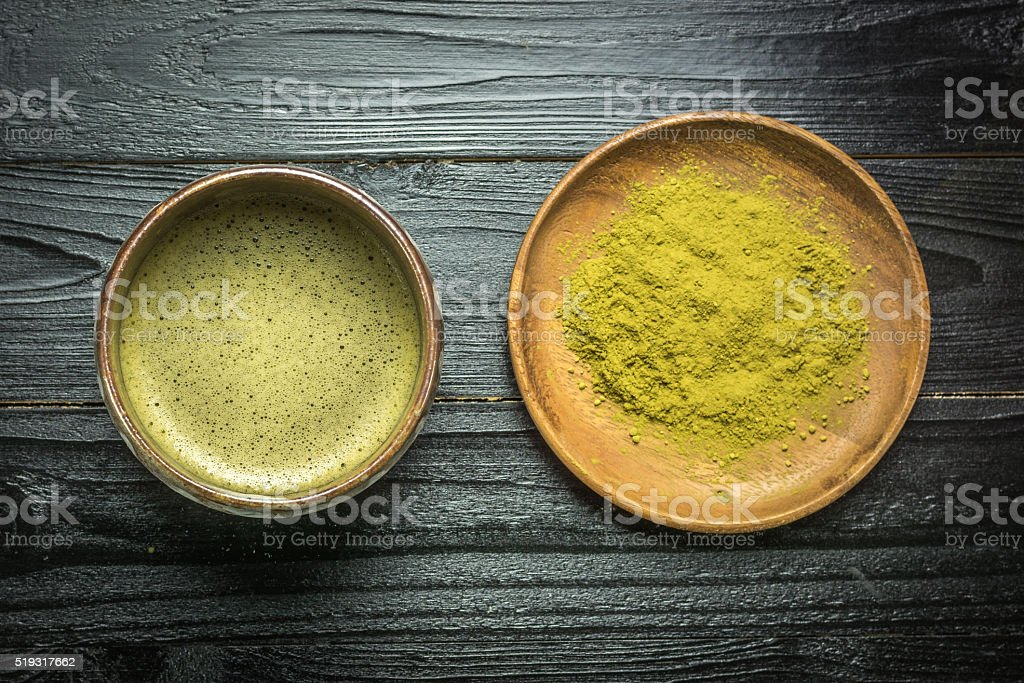 Matcha or Japanese green tea royalty-free stock photo