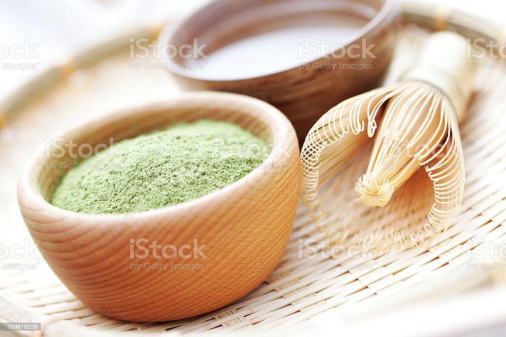 matcha powder stock photo