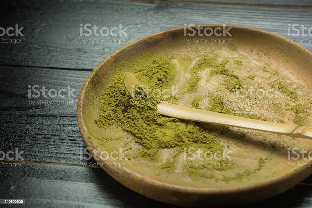 Matcha powder royalty-free stock photo