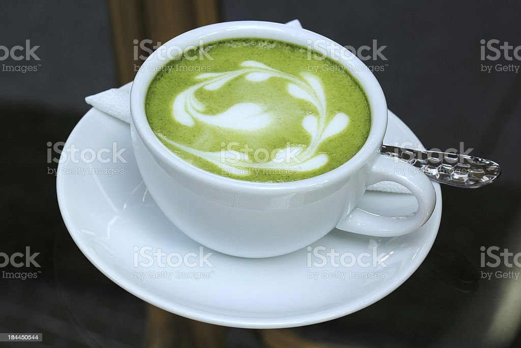 Matcha tea art royalty-free stock photo