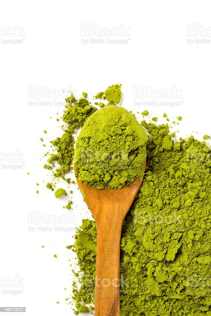 Matcha tea isolated on white stock photo