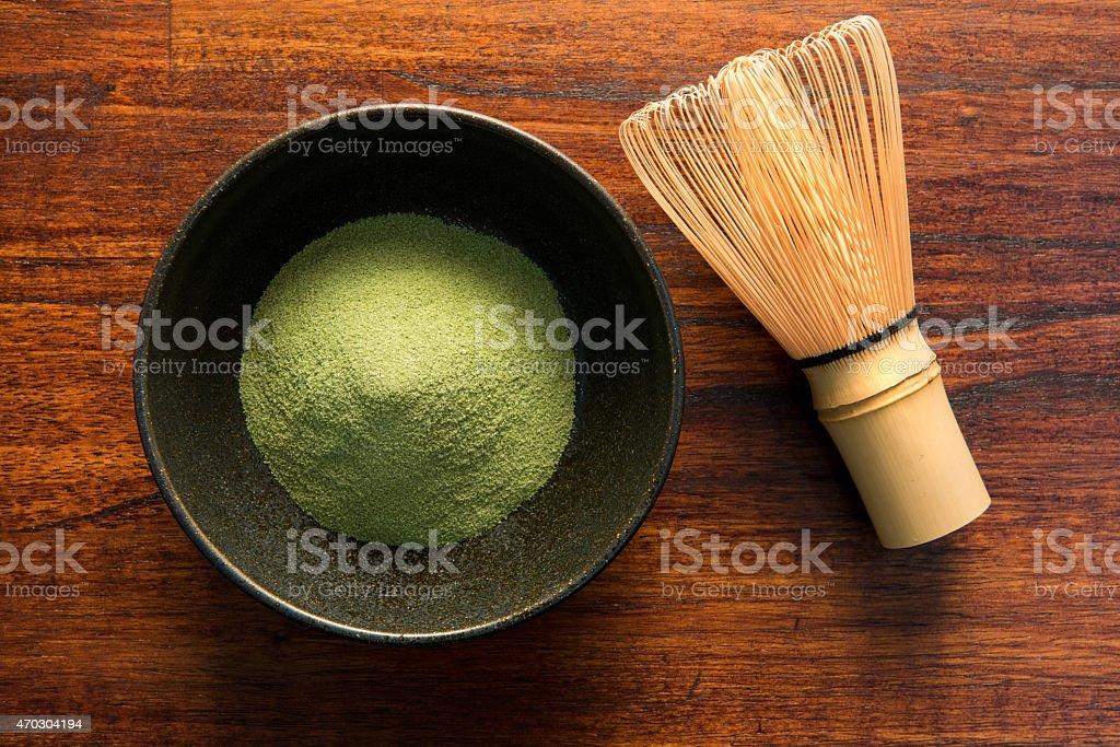 Matcha,Green Tea, chasen stock photo
