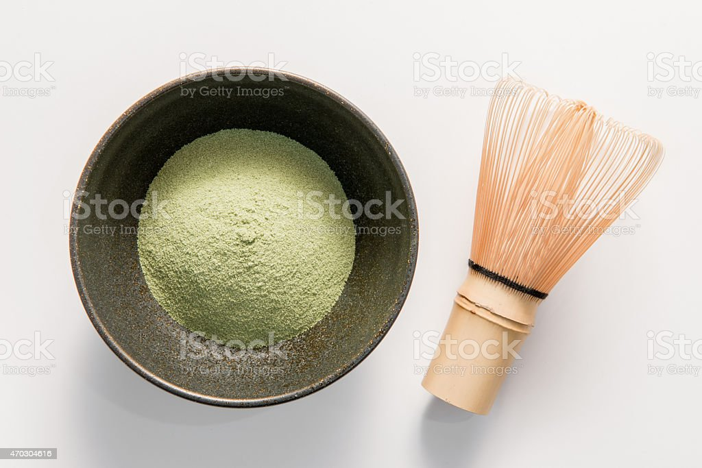 Matcha,Green Tea, chasen royalty-free stock photo