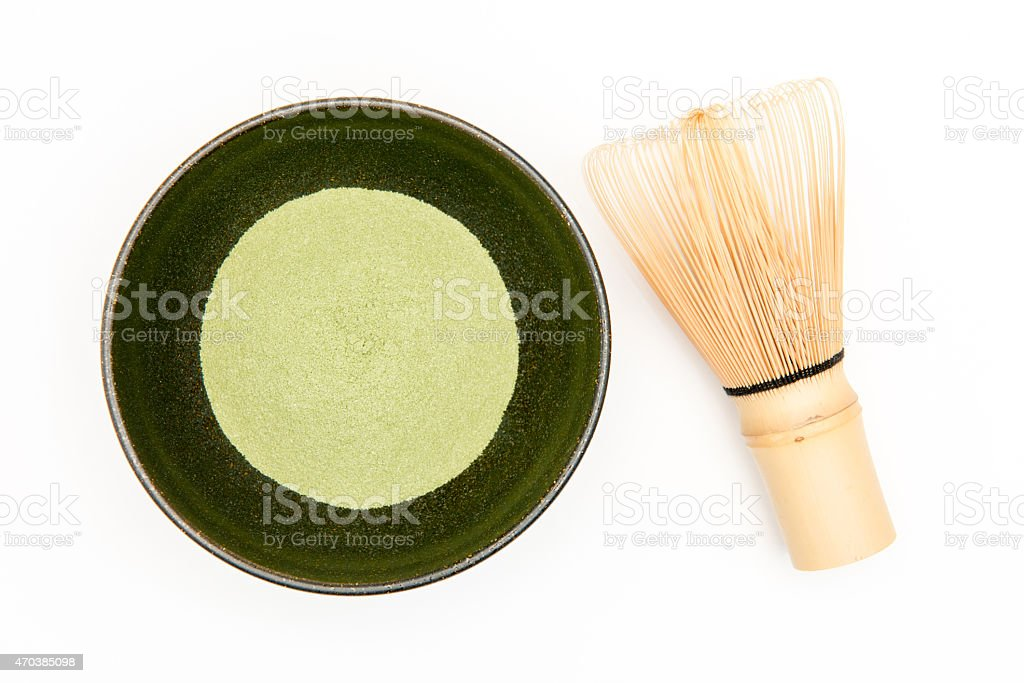 Matcha,Green Tea, chasen royalty-free stock photo