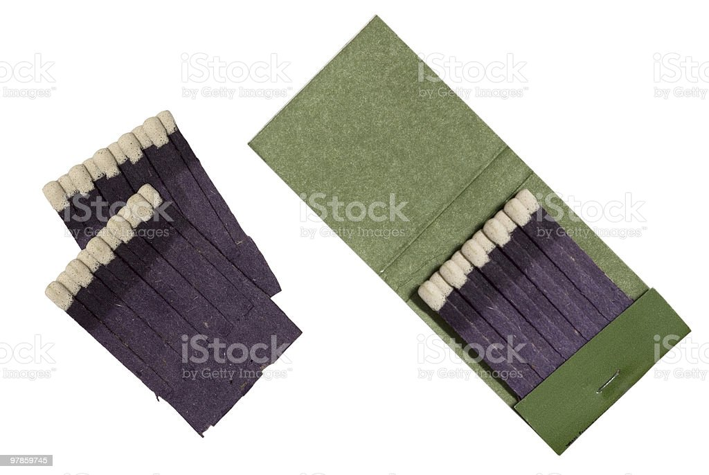 Matchbook isolated stock photo
