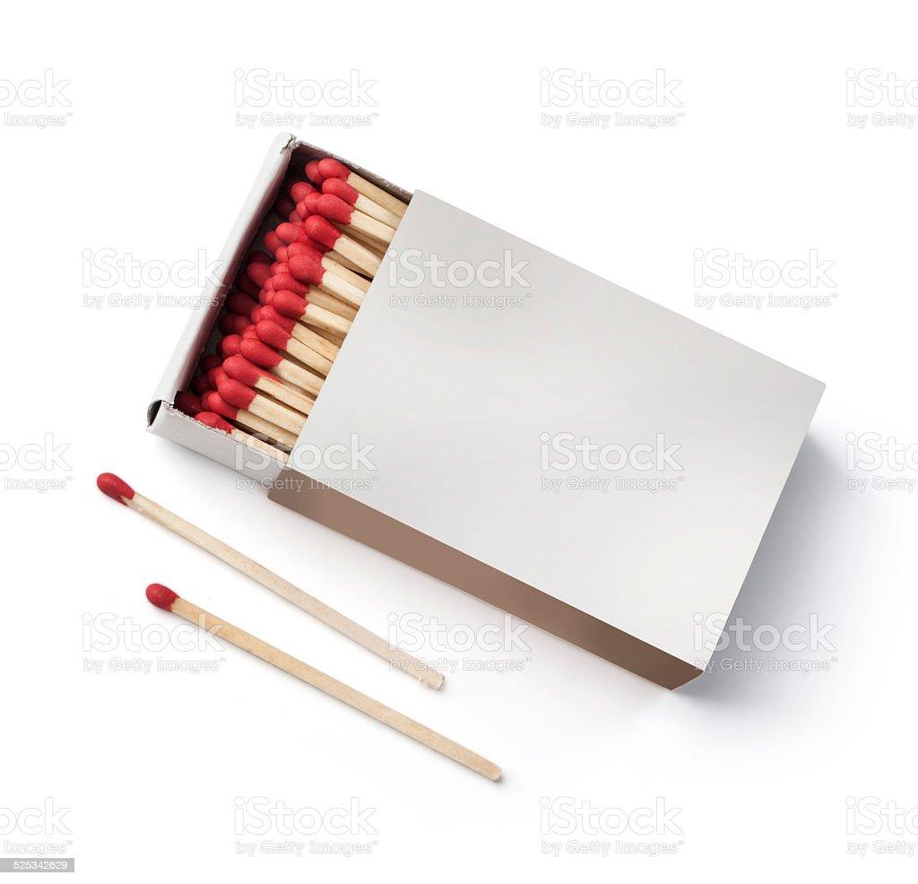 matchbox on white stock photo