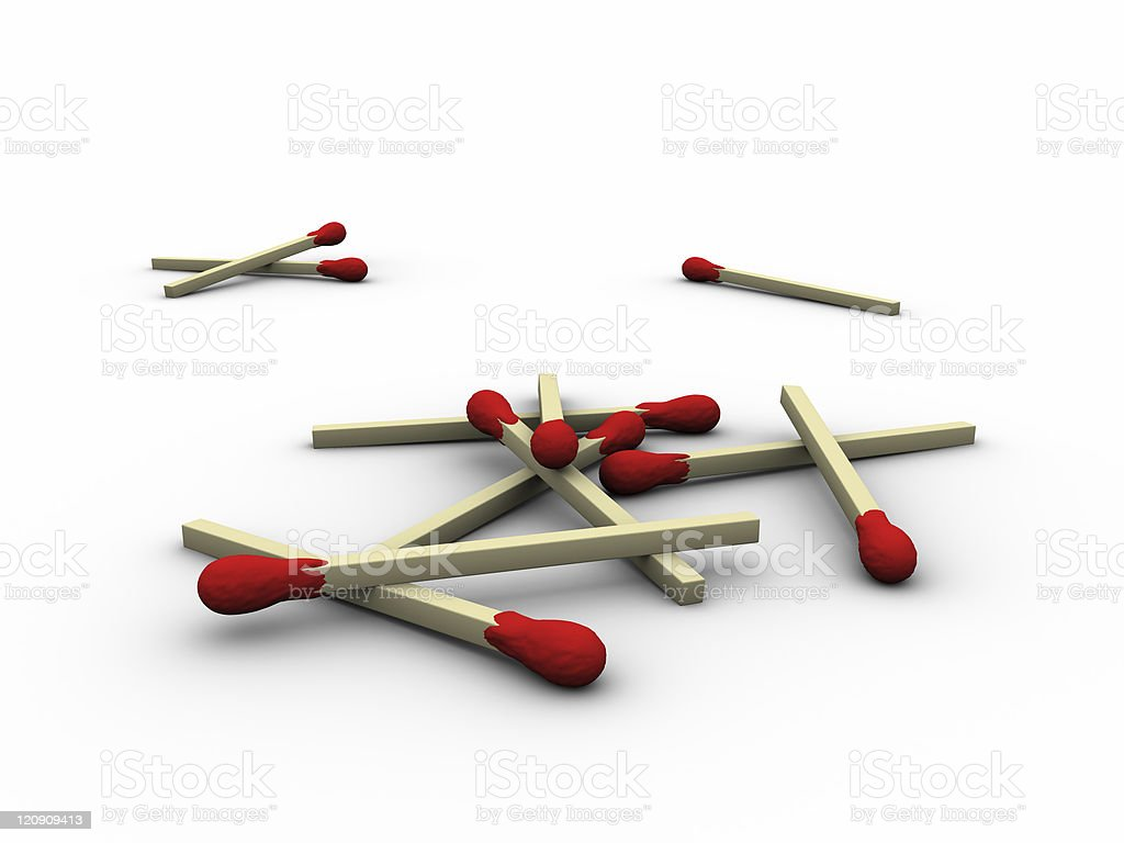 Matches Heap royalty-free stock photo