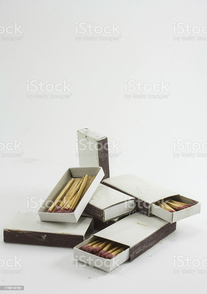 matches in a boxs isolated royalty-free stock photo