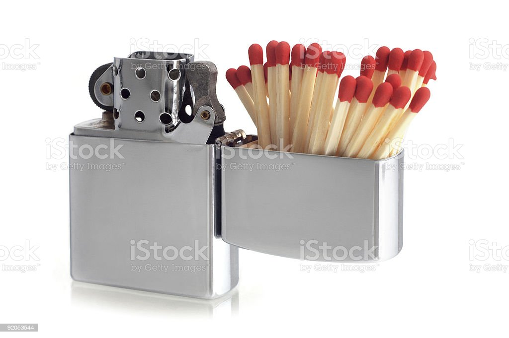 matches lighter stock photo