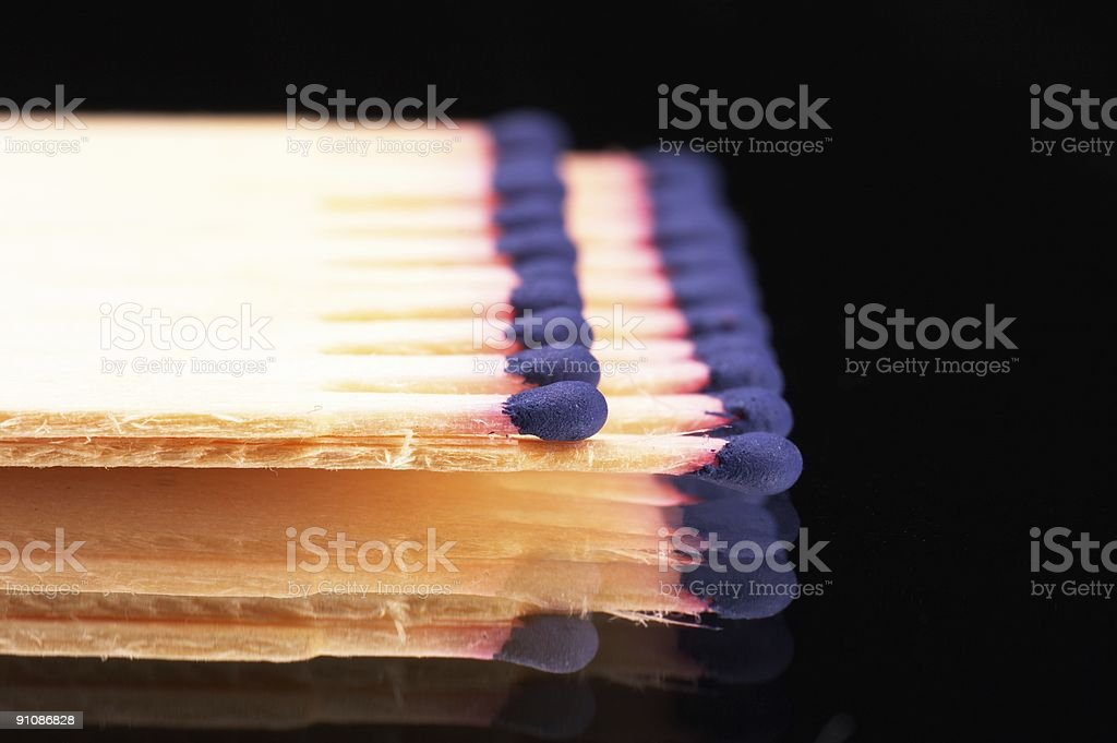 matches on mirror royalty-free stock photo
