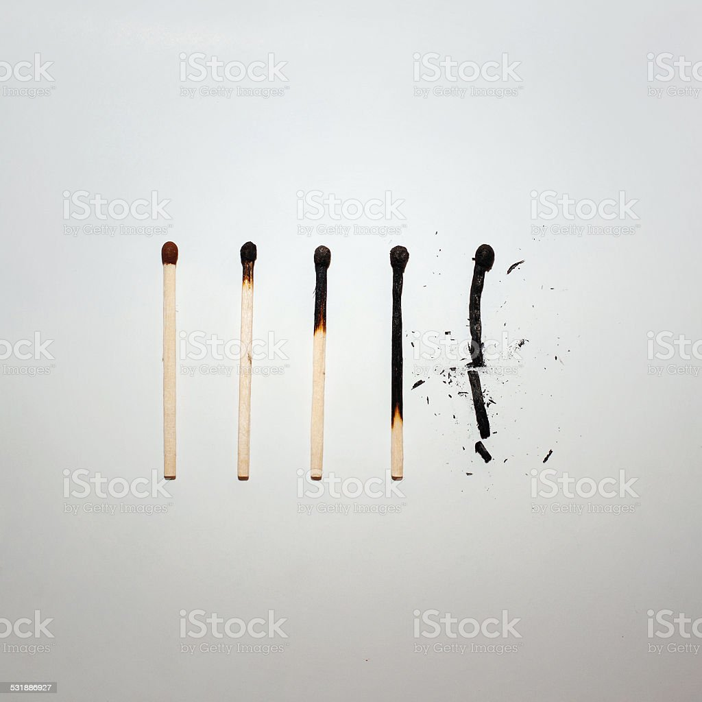 Matches on paper stock photo