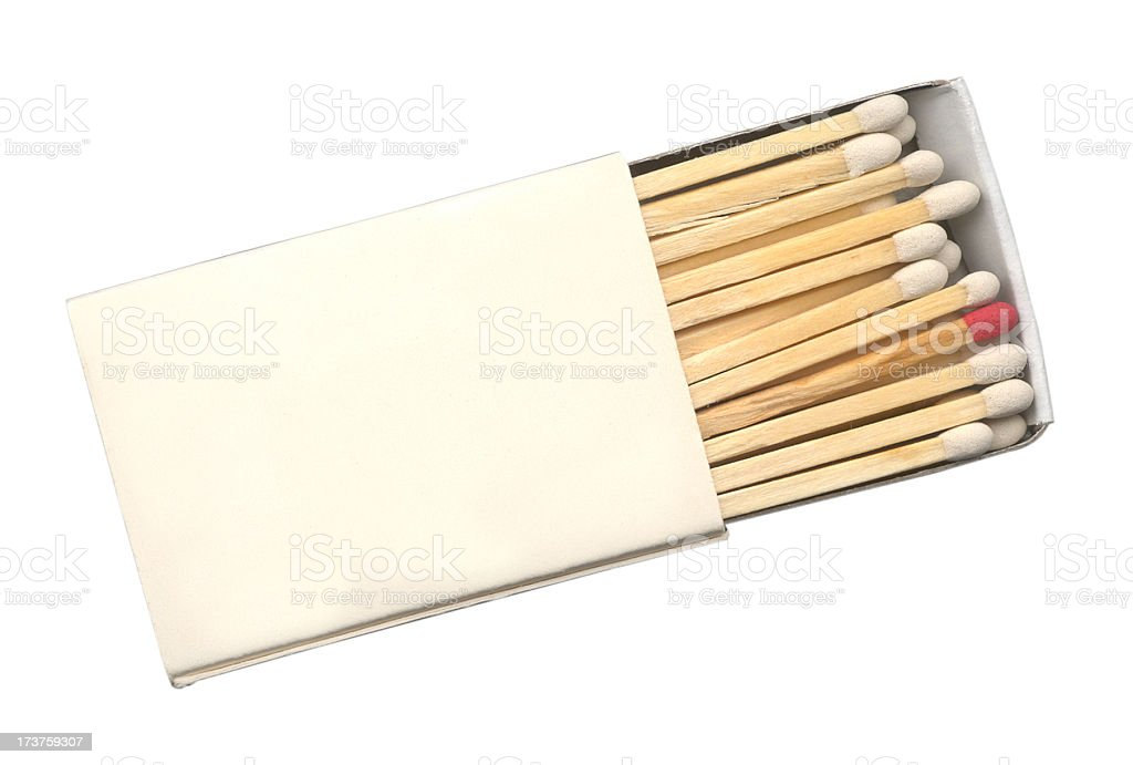 Matches with one red stock photo