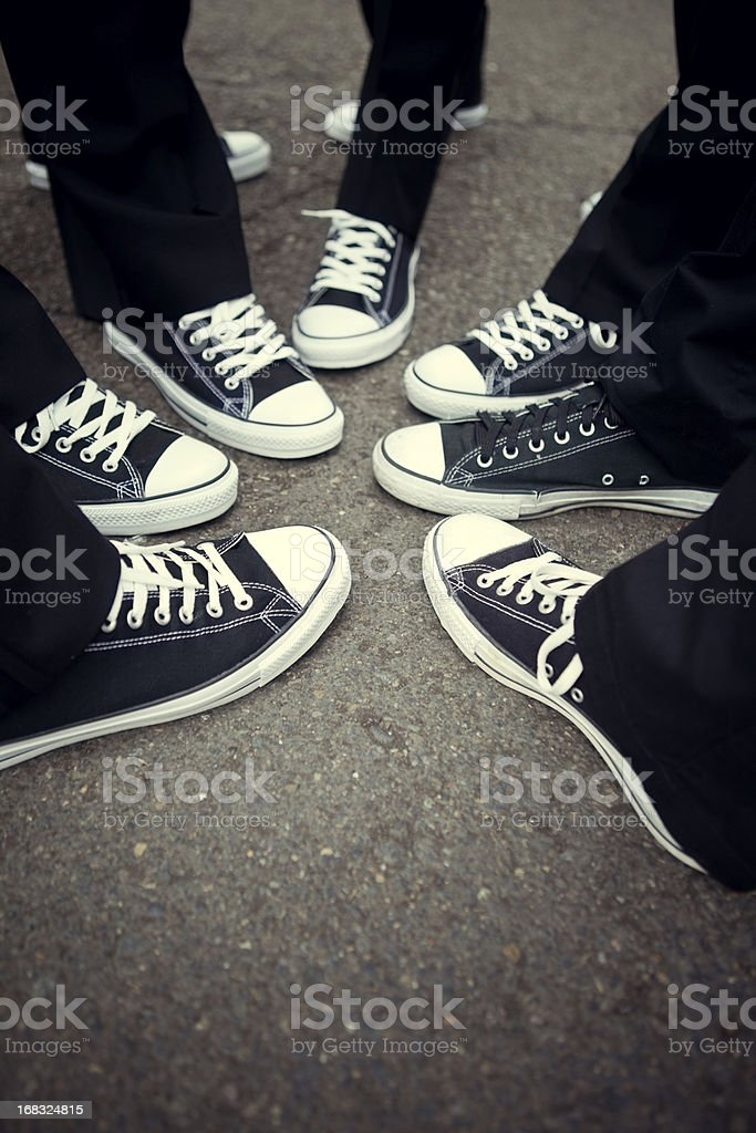 Matching Tennis Shoe Friendship royalty-free stock photo