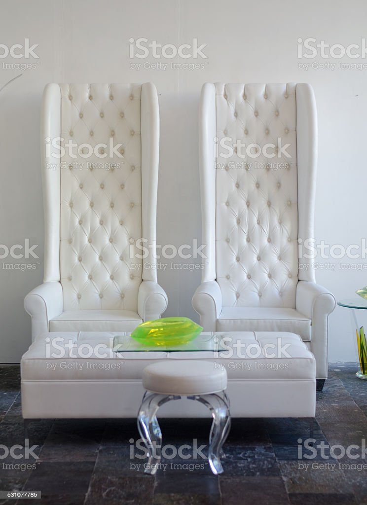 Matching thrones stock photo
