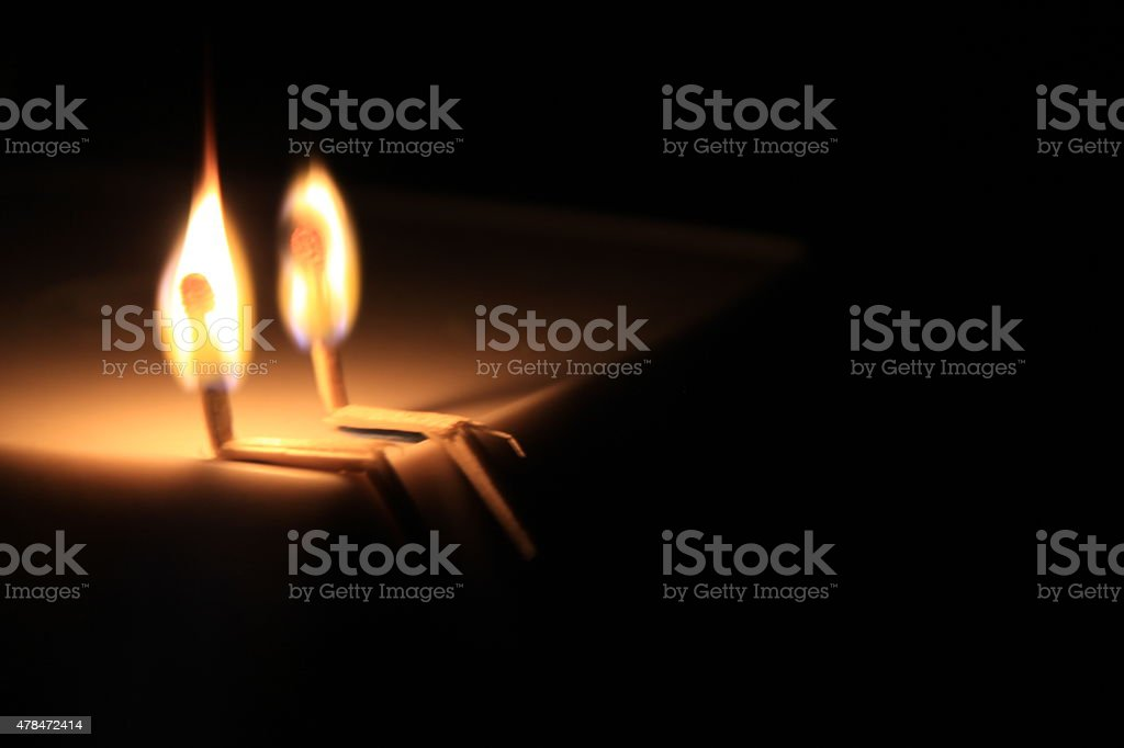 Matchstick Couple stock photo