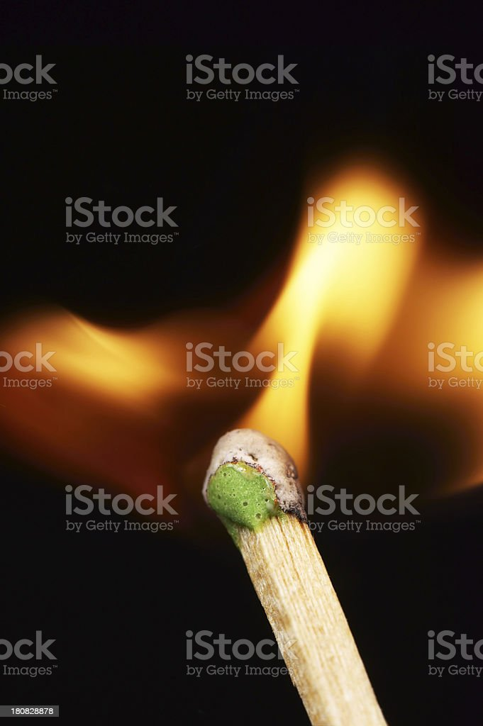 Matchstick Fire royalty-free stock photo