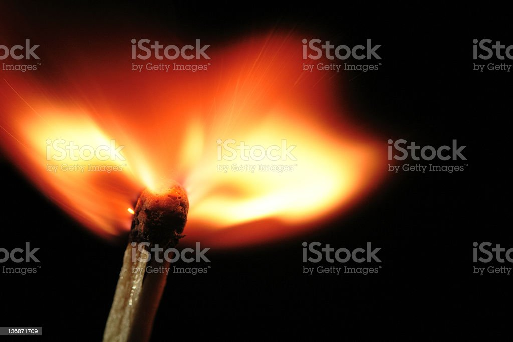 matchstick flame stock photo