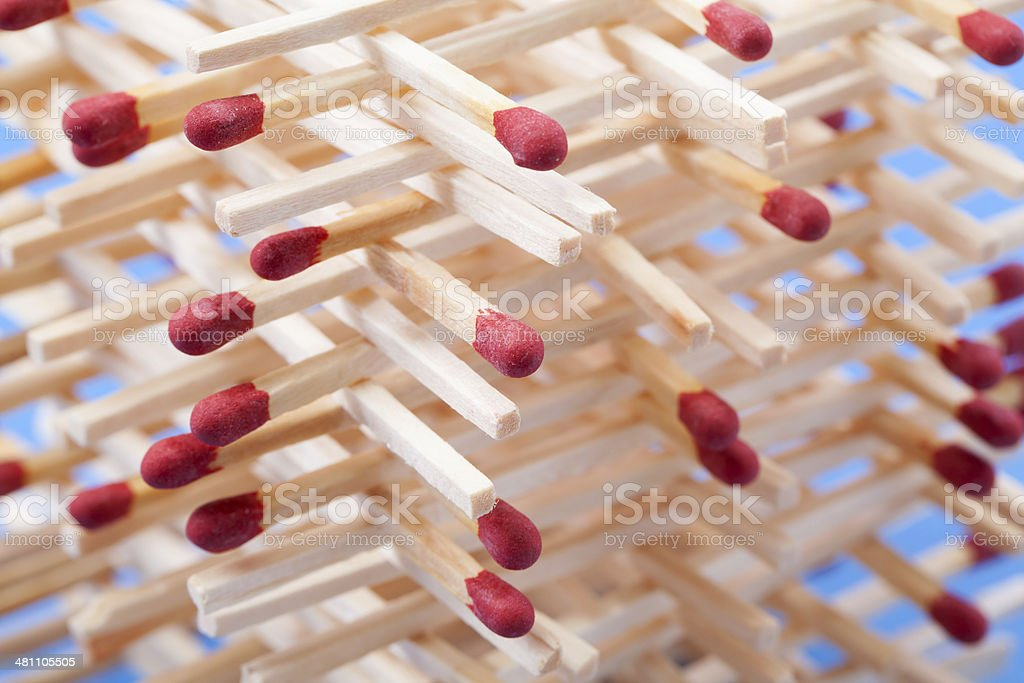 Matchstick Structure stock photo