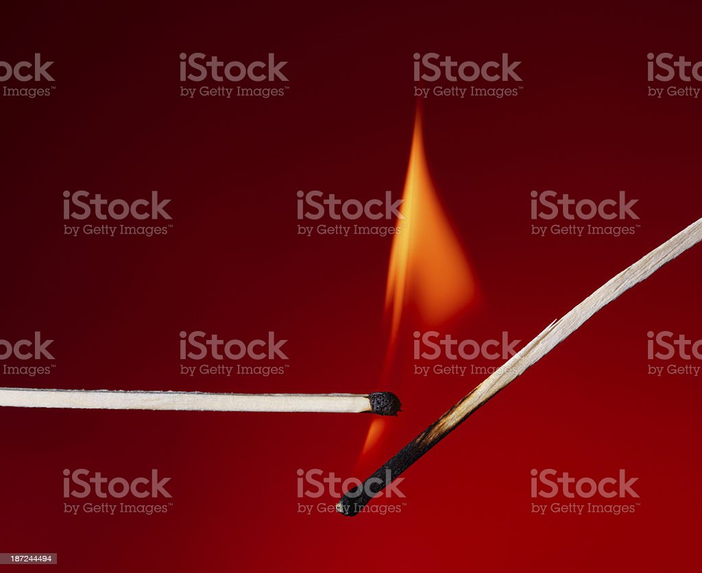 Matchsticks royalty-free stock photo