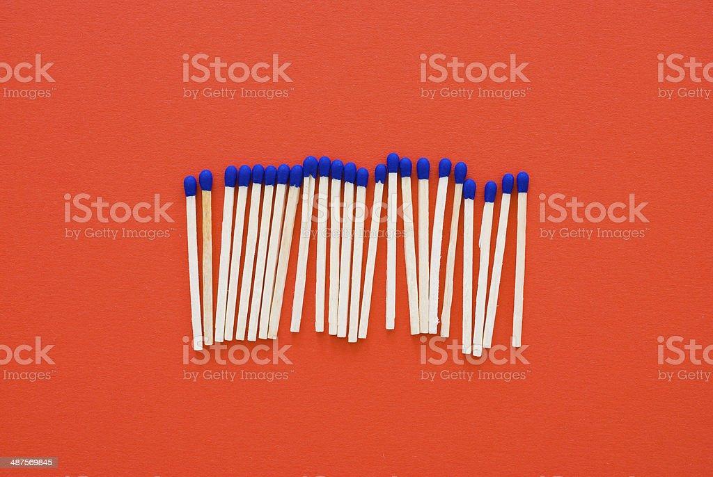 matchsticks stock photo
