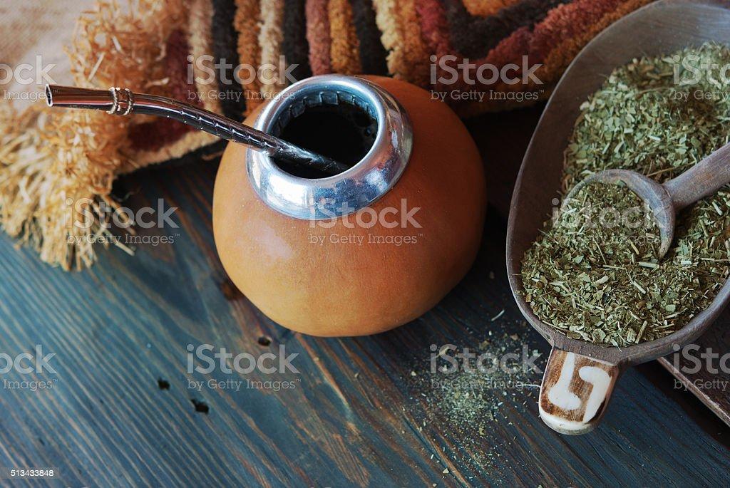 Mate calabash stock photo