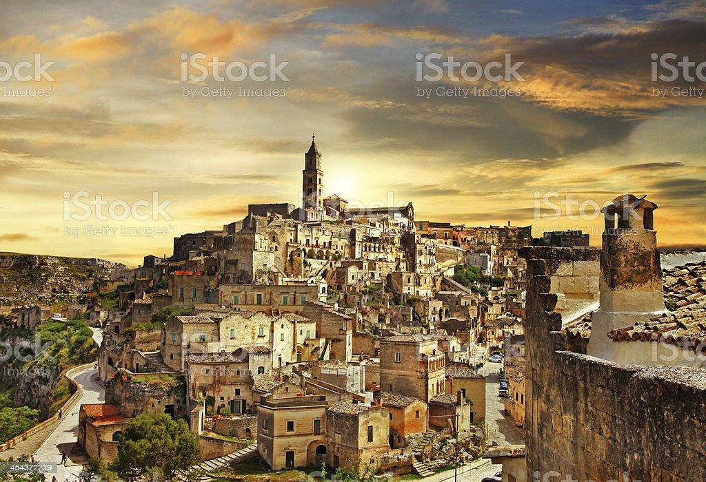 Matera - ancient city of Italy stock photo