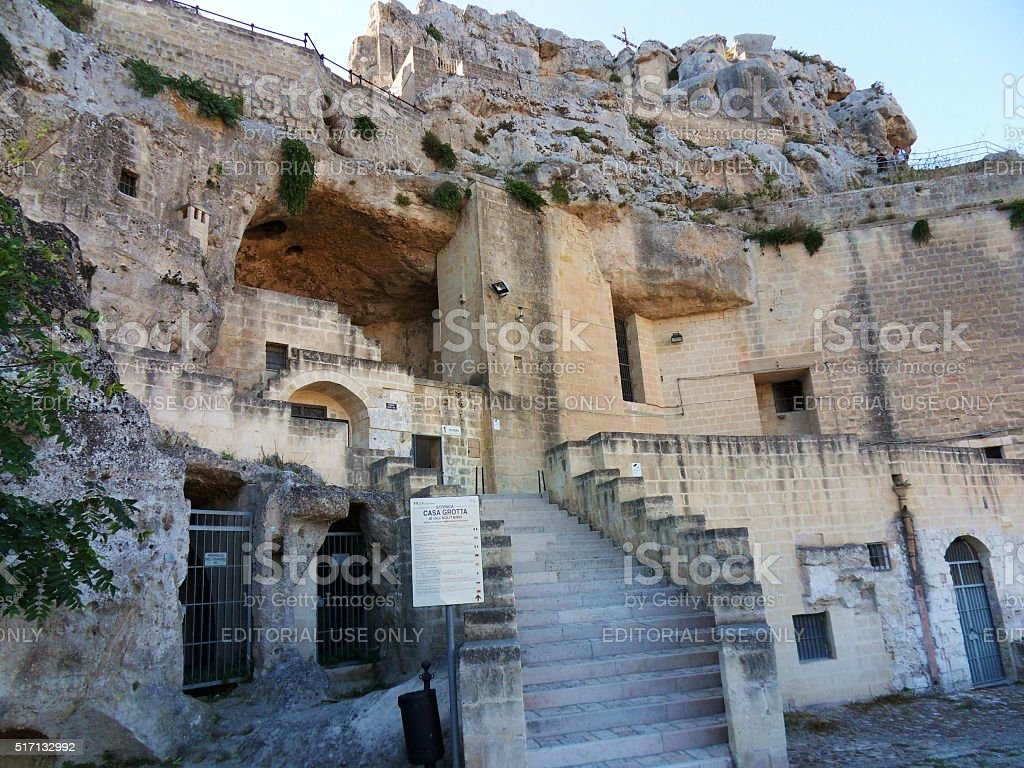 Casa grotta di Matera stock photo