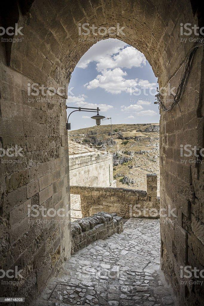 Matera, city of stones royalty-free stock photo